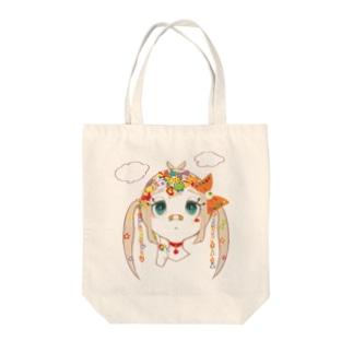 にじいろちゃん Tote bags