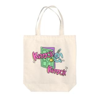 ノックノックBunny Tote bags