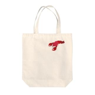 ある男に釣られたザリガニ Tote bags