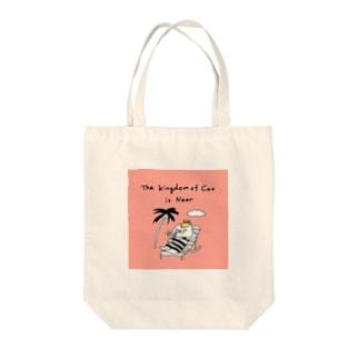 CAT IS GOD(ネコの国は近づいた) Tote bags
