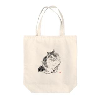 白黒ネコ-200308 Tote bags