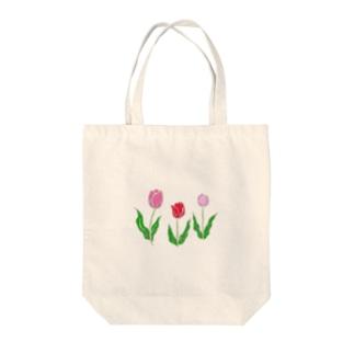 チューリップトリオ Tote bags