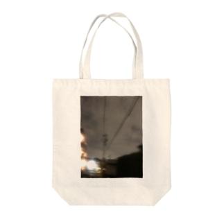ぼやけナイト Tote bags