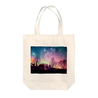 余波(夜空) Tote bags