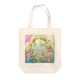 love peace  Tote bags