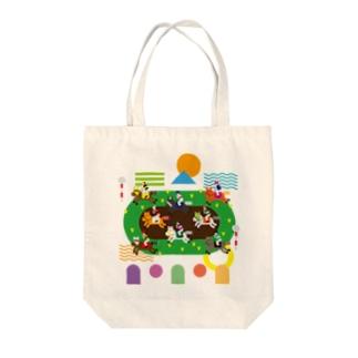 KEIBA LIFE!!!!(文字なし) Tote bags