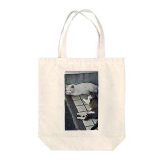 野生の猫 Tote bags