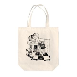 カフェテリア Tote bags