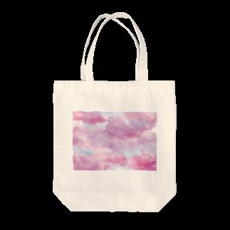 ZERO*の水彩ピンク Tote bags