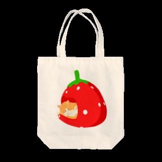 チョモランマリのイチゴハウスのネコ Tote bags