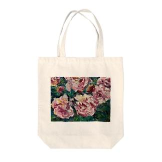 油彩-薔薇- Tote bags