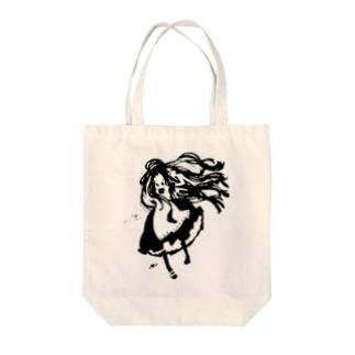 めいどさん Tote bags