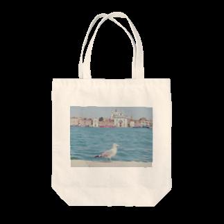 手作り作家*かめさん、兎にゃかなわないのベネチアのかもめ Tote bags