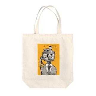 テレビマン Tote bags