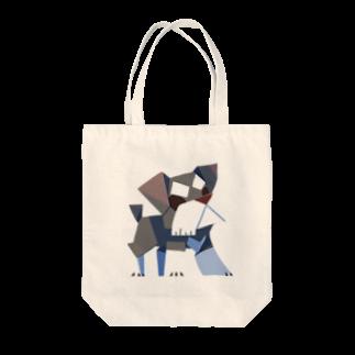 からす商のシュナウザー Tote bags
