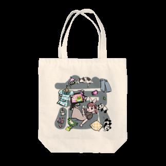 kaeruco(* 皿 *)のアンニュイ子 Tote bags