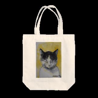 永久凍土の国の白夜の瞑想する猫 Tote bags