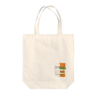 ヘルシーバーガー ワンポイント Tote bags