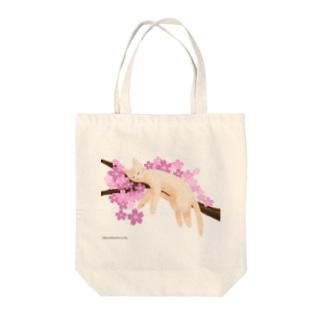 桜ねんね Tote bags