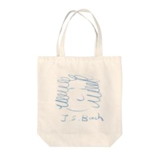 バッハ J.S.Bach Tote bags