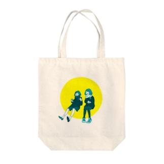 談笑ガールズ Tote bags