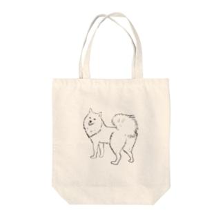 日本スピッツのおしり Tote bags