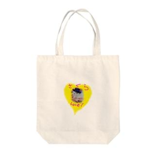 sakura  love Tote bags