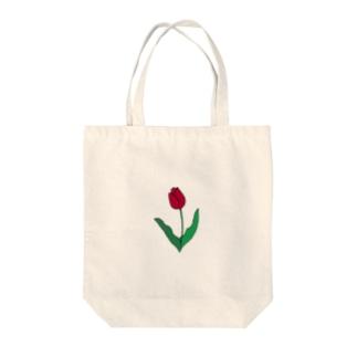 線画チューリップ 【カラー】 Tote bags