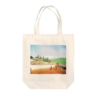モロッコ:農村の風景 Morocco: Country side Tote bags