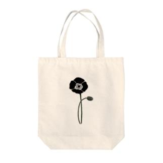 アネモネブラック Tote bags