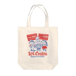 アイスクリームBoy&Girl☆アメリカンレトロ Tote bags