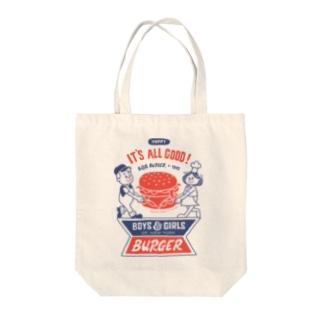 ハンバーガー&BOY&GIRL Tote bags