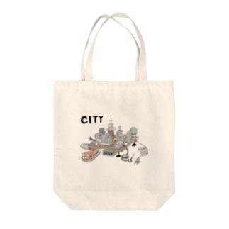 シティー オンザ ボード Tote bags