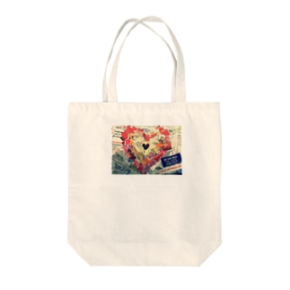 heart of language  Tote bags