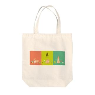 Spring Rabbits Tote bags