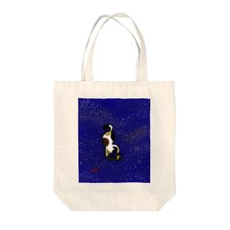 ネコ★猫★ねこ 星空ニャンコ ミケちゃん Tote bags