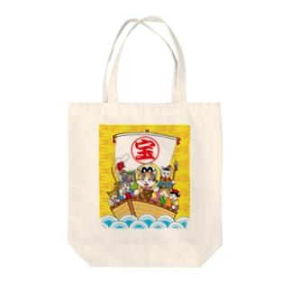 七福にゃん Tote bags