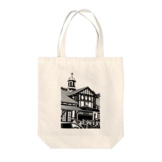 ありがとう原宿駅(切り絵風・枠無し) Tote bags