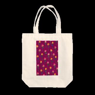 タイヤキ・エクスプリマのローズフラワー/ダークローズ Tote bags