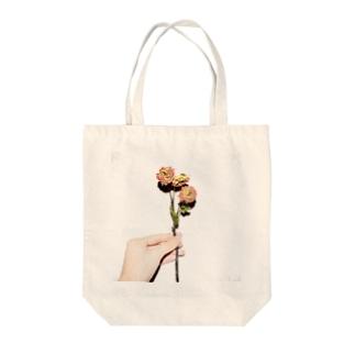 バラのドライフラワー Tote bags