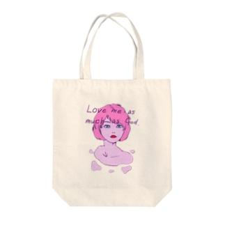 溶ける愛 Tote bags