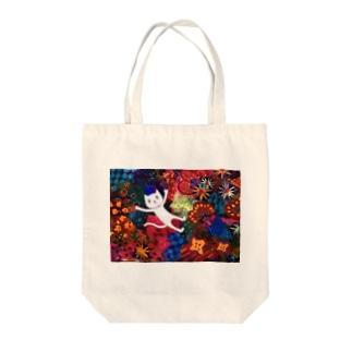 art 舞う猫 Tote bags