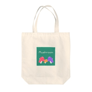 Mushroom Family Tote bags