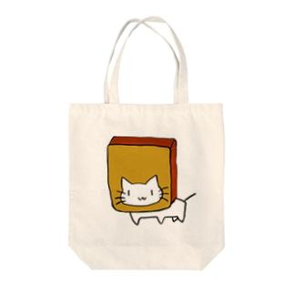 カステラに顔を突っ込む猫 Tote bags
