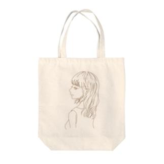 春の横顔〜単色〜 Tote bags