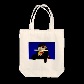 Danke Shoot Coffeeのちくわを咥える女性 Tote bags