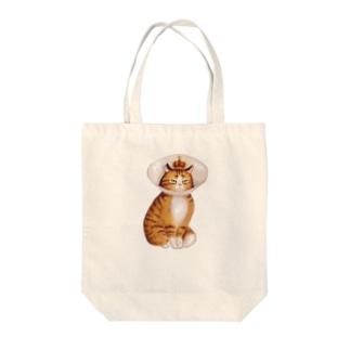 ネコ女王 Tote bags