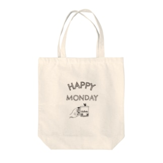 1week7days MONDAY Tote bags