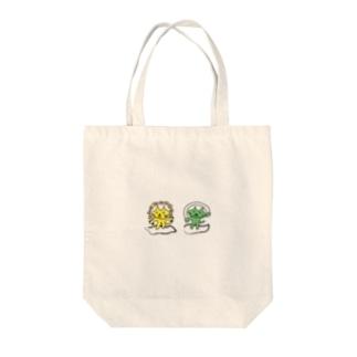 風神雷神ねこさん Tote bags