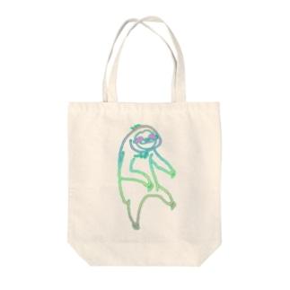 ぶらーんとナマケモノれいんぼー Tote bags